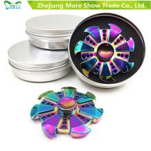 Rainbow Colors Metal Alloy EDC Hand Fidget Spinner High Speed Focus Toy