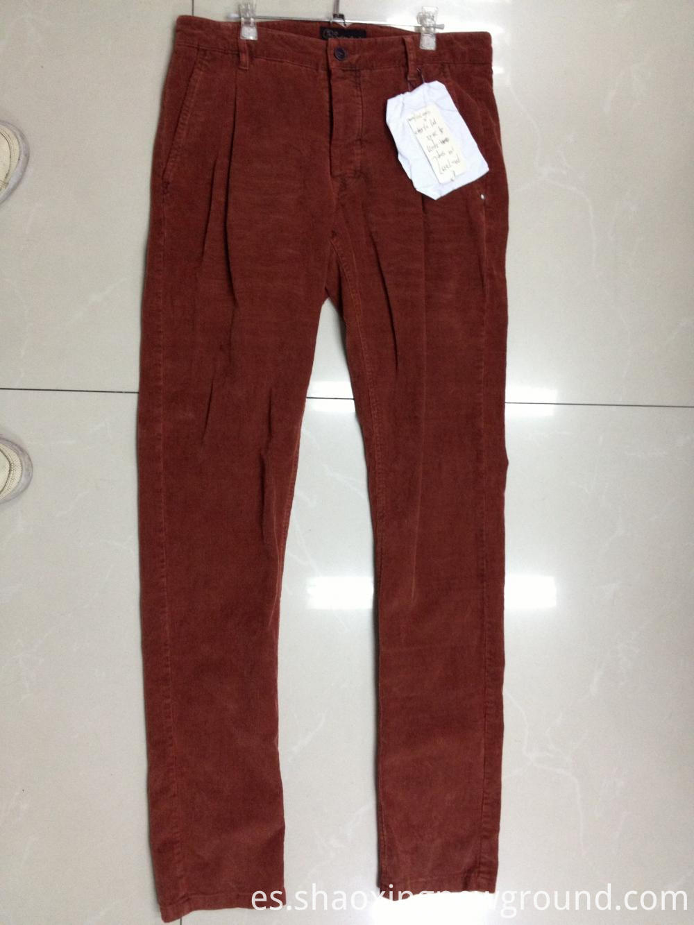 red garment dyed pant