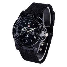Спорта OEM металлический наручные Кварцевые часы с Браслет трикотажные