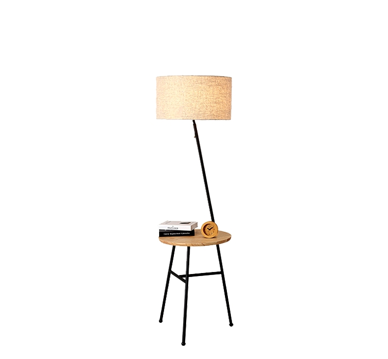 Corner Wooden Floor Lamp