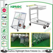 Chariot de stockage de logistique de chariot à fleurs de serre Chariot de stockage logistique
