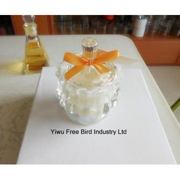 Exquisite Handmade White Glass Jars for Candles