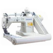 Máquina de coser de puntada de cadena con tres agujas de alimentación del brazo
