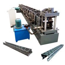 As prateleiras do supermercado que fazem a máquina / cremalheiras automáticas do armazenamento do metal laminam a formação da máquina para prateleiras do armazenamento