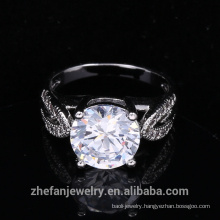 ring one white cubic zircon ring for women's party clothes