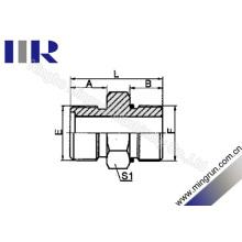 Conector hidráulico do tubo do anel-O masculino métrico que encaixa (1EO)