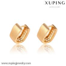 90856-Xuping nuevos aretes con clip de moda chapados en oro
