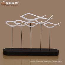 Guangzhou Fabrik Angebot Geschenk Dekoration Harz abstrakte Fisch Figur hohe Qualität für Wohnkultur