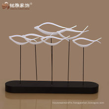 guangzhou factory offer gift decoration resin abstract fish figure high quality for home decor