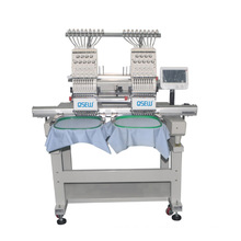 QS-1202 double Head Computerized Embroidery Machine Dahao Computer for T shirt logo label