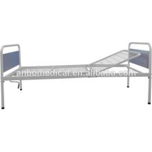 Plegable única manivela con acero weldmesh cama cama de hospital bordo