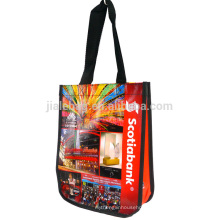 Eco-friendly reusable PP woven laminated shopping bag for promotion