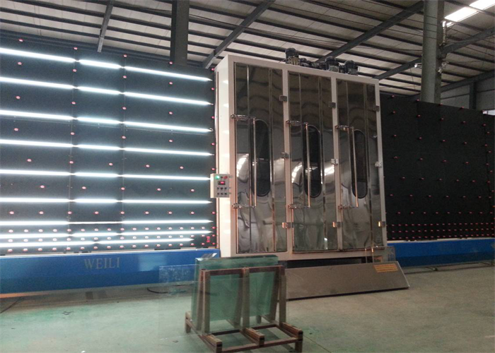 vertical washing and drying part of insulated glass machine