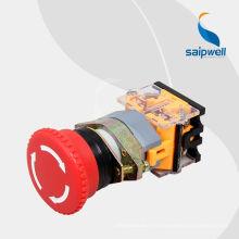 Bouton-poussoir d'urgence de haute qualité Saipwell / bouton-poussoir avec lumière LAY50-AA-Z