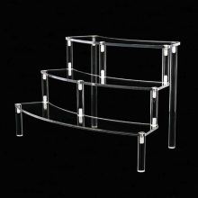 Tabletop stand clear acrylic step riser stair display