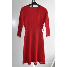 63%Ray37%Nylon Ladies Knit Sweater Dress