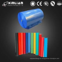 PE / OPP Película de plástico con diferentes colores