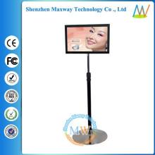 rotação de publicidade de carrinho de exposição de 19 polegadas LCD de carrinho de chão