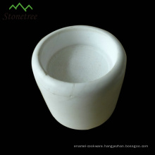 White stone candle cup marble candle jar