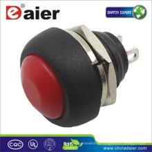 Botão de interruptor de 1 amp 12 mm; Interruptor de 2 pinos;