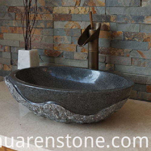 Black Granite Vessel Sink