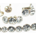 Rhinestone Rivets with Crystal Stone Embellished