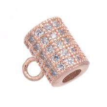 Shangjie OEM Perforated diy copper micro-inlaid zircon full diamond  necklace bracelet  jewelry  accessories