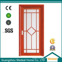 Puerta interior de madera compuesta del PVC del MDF para los diversos proyectos