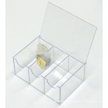 Personifizierter klarer Acryl 6 Abschnitt Teebeutel Aufbewahrungsbox