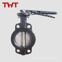 Resilient seat cast iron wafer butterfly valve with aluminum lever