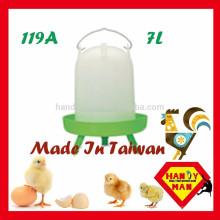 Tipo de manga durável para bebedor de frango 7L com 3 pernas Bebedor de aves