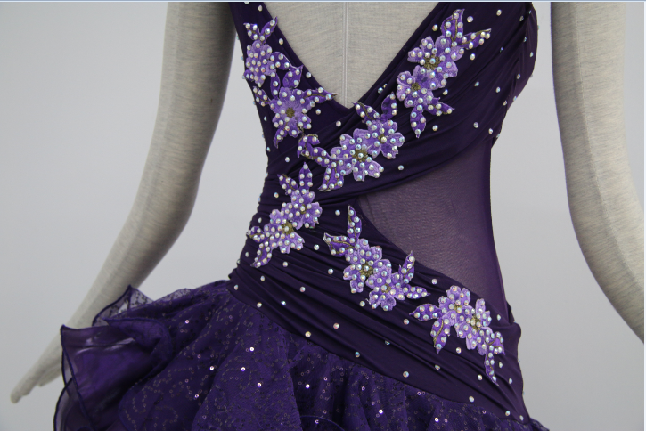 Purple Dance Costumes For Competition