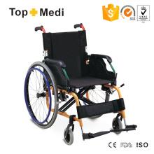 Topmedi Aluminium Klappbarer manueller Rollstuhl für Behinderte