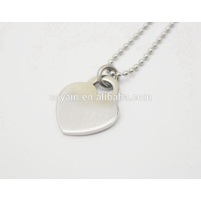 Charm Silver Love Heart Pendant Stainless Steel Fashion Necklace