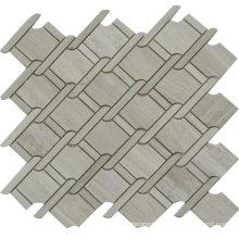 Special Design Natural Stone Travertine Basketweave Mosaic Tile