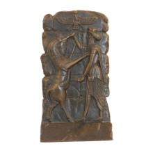 Estatua de latón en relieve Animal Relievo Escultura de bronce en pared deco Tpy-847