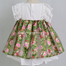Wholesale girls digital floral print dresses cotton