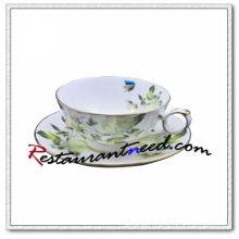 B162 200ml YAMI Blanc Rose tasses à thé et soucoupes 2 Set