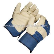 Cow grain leather work glove