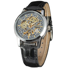 classical men leather band watch multi function watch