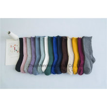 Fashion Comfortable Adjustable Cuff Socks Solid Color Good Quality Girl Stocking