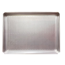 Perforated baking drying tray for spice food granules powder