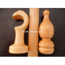 Modern Wooden Curtain Rod Accessories Curtain Finial