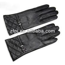 Kundenspezifische Mode Braun Winter Handschuhe Leder für Frauen