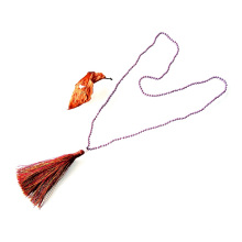 4mm fait à la main Long collier de perles colorées nacrées