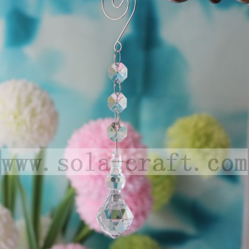Almond Raindrop Pendant For Chandelier Parts Curtain 17CM