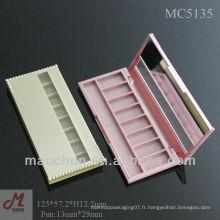MC5135 Shantou plastic 8 palette de fard à paupières, slim eye shadow case, étui rose pour les yeux
