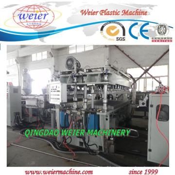 6-10 mm de espesor de la línea de máquina de fabricación de láminas huecas de rejilla de PP