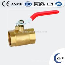 ZFV-BV-15 ~ 25 3/4 de pulgada válvula de bola de threadedbrass