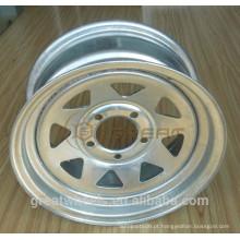 Reboque rodas de aço galvanizado usadas